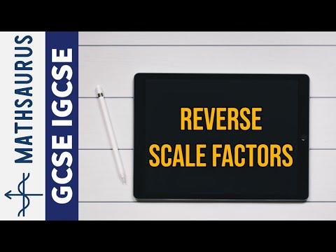Reverse scale factors GCSE IGCSE Maths