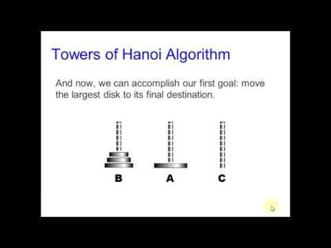Towers of Hanoi - algorithm in Matlab