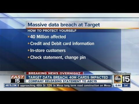 Target data breach: 40 million cards impacted