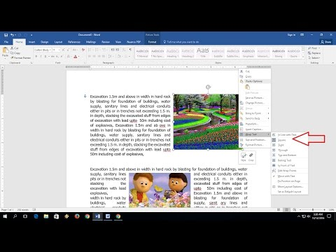 How to Wrap Picture & Image On Text in MS Word (Word 2003-2016)