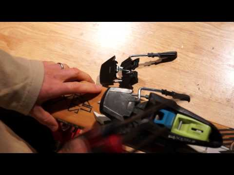 How to replace Marker ski brakes on twintips.  Like a Moron.