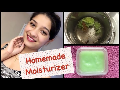 #13 Beauty tips: Natural Homemade Moisturizer for all skin types in Hindi with English subtitles-DIY
