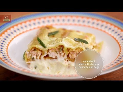 Cannelloni filled with Chicken, Pancetta and Sage featuring Adam Swanson in Everyday Gourmet