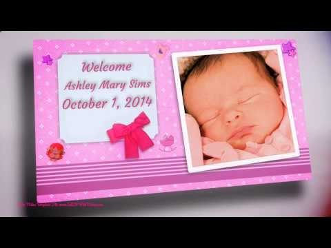 Spectacular Video Birth Announcements - It's A Girl / It's A Boy Announcements