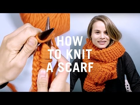 How to Knit a Scarf - Very Easy Knitting Tutorial for Beginners