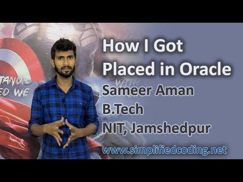 How to Get Placed in Oracle India featuring Sameer Aman