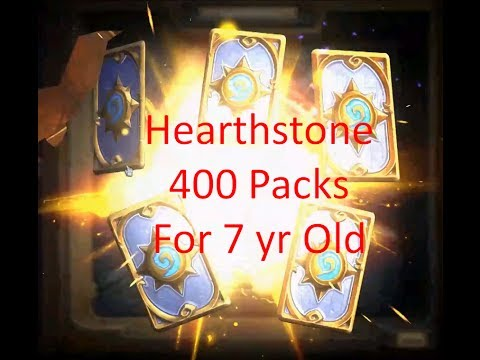Hearthstone 400x Packs Opened - See Godly Golden Legendary Pack, Ratios, and 7 yr old Reactions!