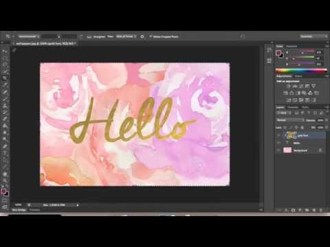 Photoshop Tutorial: Create the gold foil text for Websites   Blog   Inspirational wallpapers