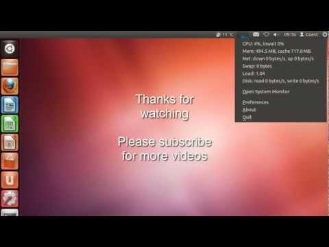 Ubuntu 12.04 - Installing CPU Monitor/Widget