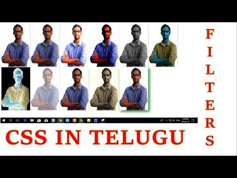 CSS Image Filters in Telugu by Kotha Abhishek