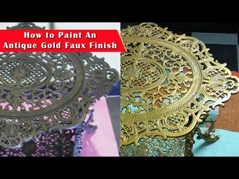 How to Paint an Antique Gold Faux Finish