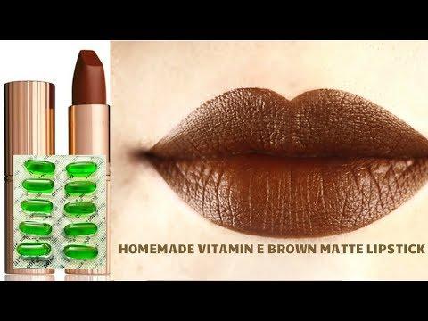 VITAMIN E CAPSULE से बनाये लिपस्टिक | DIY MATTE BROWN LIPSTICK ENRICHED WITH VITAMIN E