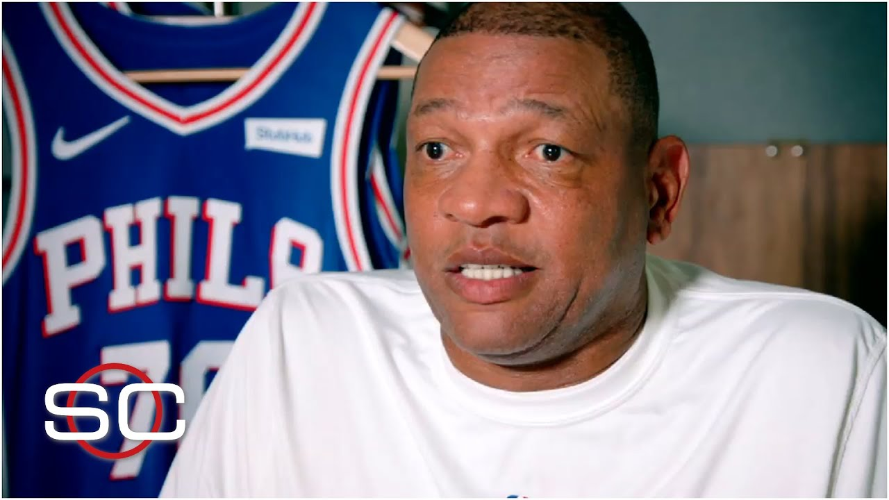 Doc Rivers reacts to Paul George's slight, discusses coaching Embiid and Simmons   SportsCenter