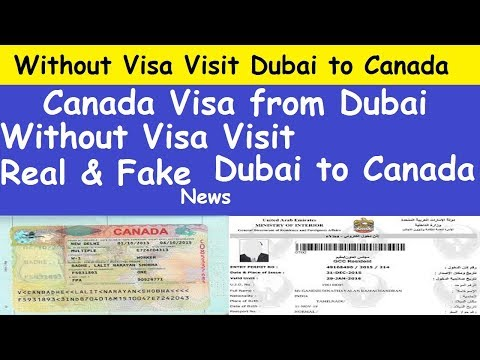 Without Visa Enter Canada From Dubai l Without Visa Visit Dubai to Canada l Canada Visa from Dubai