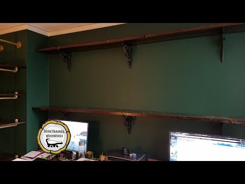 Woodworking : Reclaimed Lumber Storage Wall Shelves