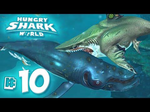 MEGALODON EATS WHALES!! - Hungry Shark World   Ep10 HD