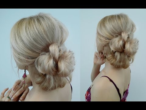 QUICK AND EASY HAIRSTYLE VOLUMINOUS BUN IN MINUTES | Awesome Hairstyles ✔