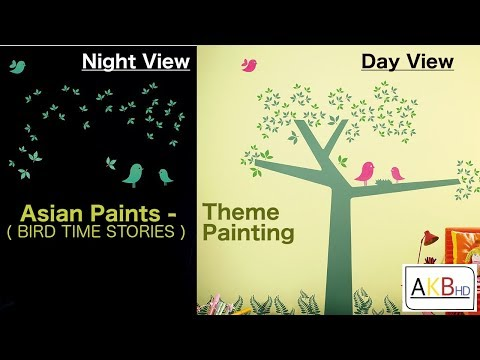 Kids Room Painting Designs by Asian Paints : Bird Theme Painting Designs