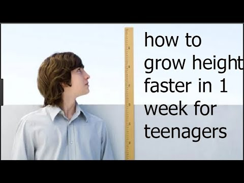 how to grow height faster in 1 week for teenagers