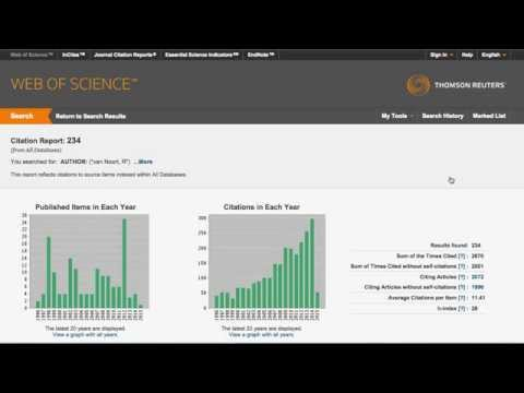 Getting a researcher's h-index from Web of Science
