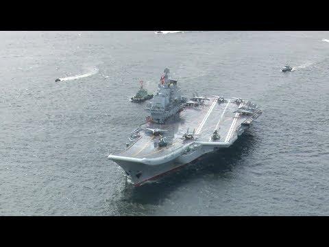 China's aircraft carrier Liaoning visits Hong Kong
