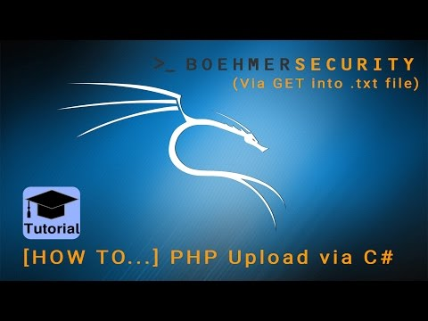 [How to...] PHP Upload via C# (Part 1: GET-Request into .txt file)