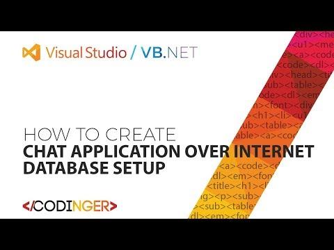 VB NET - Chat application over internet / Database Setup