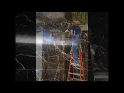 Marble wall cleaning and polishing