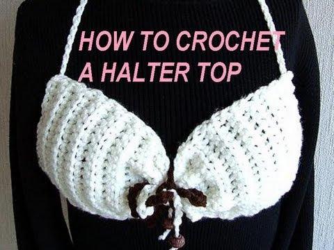 HOW TO CROCHET A BANDEAU TOP, bikini style top