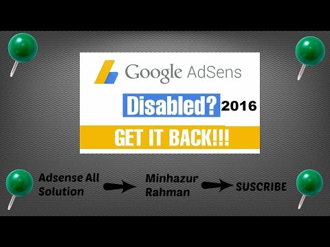 how to get back disable adsense account-invalid activity