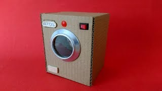 Download How to Make Washing Machine from Cardboard - Mini Çamaşır Makinesi Nasıl Yapılır Video