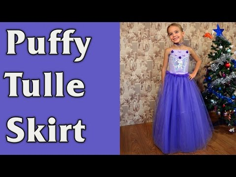 DIY - Puffy tulle long Skirt