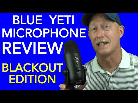 Blue Yeti USB Microphone Blackout Edition Review - Great Mic For YouTube, Podcasts, & YT Voice-Overs