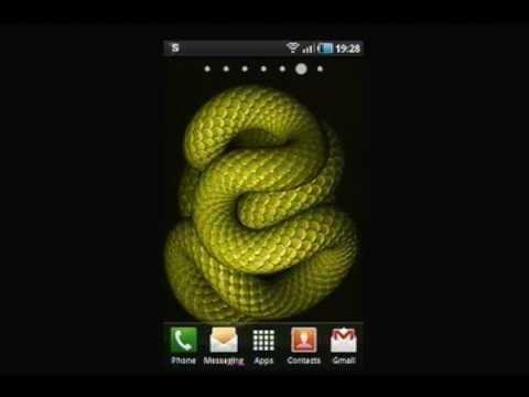 3D Animated Snake Live Wallpaper