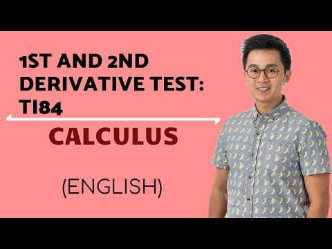 Calculus - 1st and 2nd Derivative Test Using a Calculator TI-84 or Ti-83