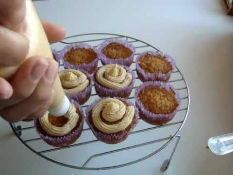 Receta frosting de chocolate blanco - como decorar 1 cup cake