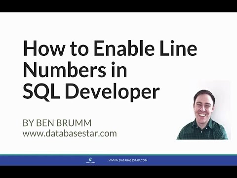 How to Enable Line Numbers in SQL Developer
