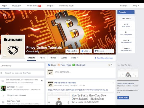 How To Change You Facebook Fan Page Name - Tagalog