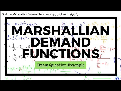 Derivation of Marshallian Demand Functions from Utility Function