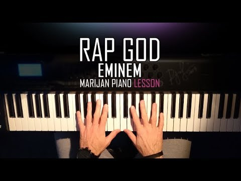 How To Play: Eminem - Rap God | Piano Tutorial Lesson + Sheets