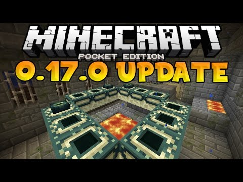 MCPE 0.17.0 - How to Make an END Portal - End Dimension Tutorial - Minecraft PE (Pocket Edition)