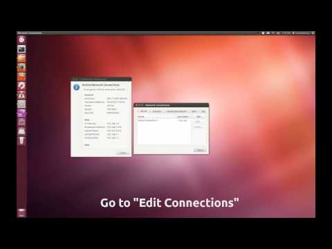 How to easily set up a static ip address in Ubuntu using the GUI(12.04)