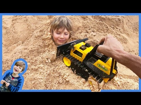 Bulldozer Buries Axel at the Beach