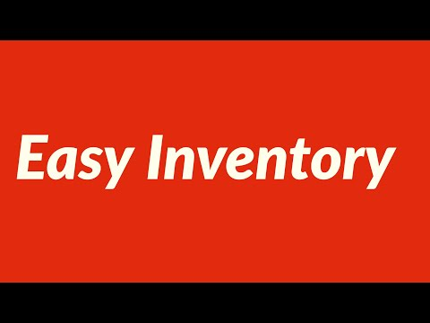 Quick and Easy Inventory