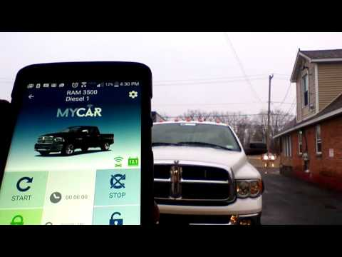 MYCAR Plug and Play Remote Start Smartphone Controller App kit