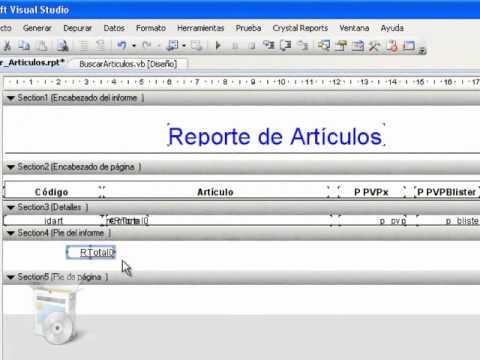 DataGridView a un Crystal Report (Visual Studio 2008) - VIDEOS TUTORIALES - Miguel-VifuSoft