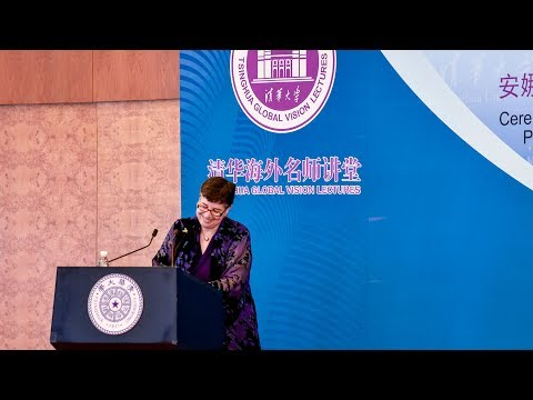 Seeding a healthier world — UW President Ana Mari Cauce gives talk at Tsinghua University