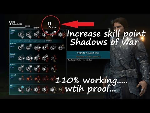 How to increase Skill point in Shadows of war via cheat engine||100% working with proof....