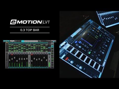 eMotion LV1 Tutorial 0.3: Intro – Top Bar