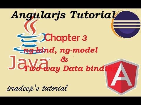 AngularJS Two way databinding | Difference between ng-bind and ng-model
